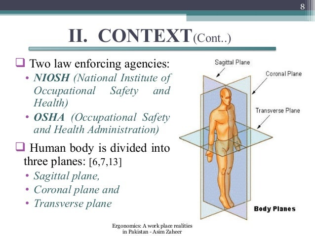 8         II. CONTEXT(Cont..) Two law enforcing agencies: • NIOSH (National Institute of   Occupational Safety and   Heal...
