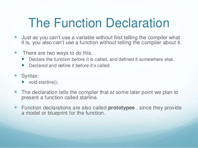Function c 6 the function declaration a function can return a value malvernweather Gallery