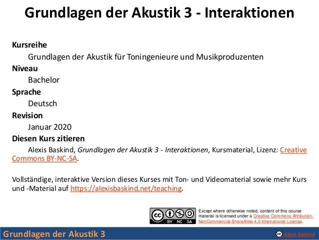 Grundlagen der Akustik 3 - Interaktionen Slide 2