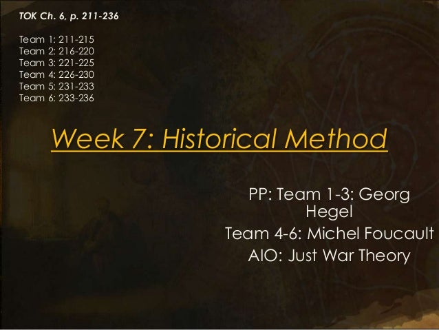 TOK Ch. 6, p. 211-236Team 1: 211-215Team 2: 216-220Team 3: 221-225Team 4: 226-230Team 5: 231-233Team 6: 233-236      Week ...