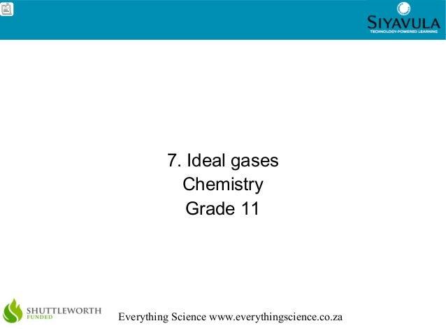 1Everything Science www.everythingscience.co.za7. Ideal gasesChemistryGrade 11