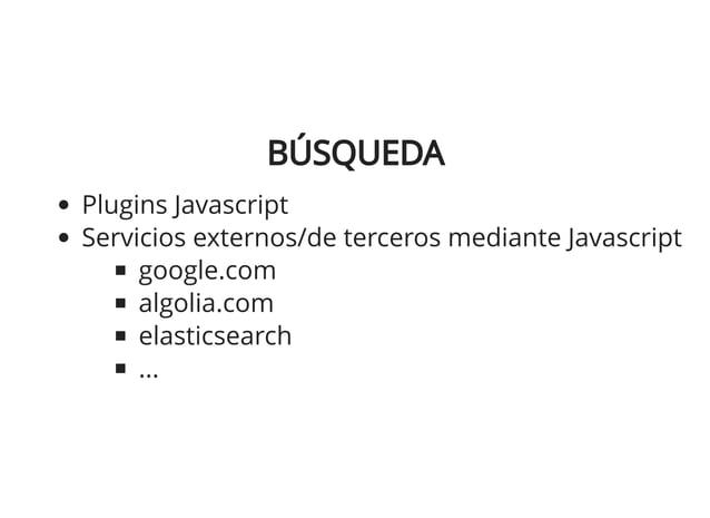 ECOMMERCEECOMMERCE Servicios externos/de terceros mediante Javascript snipcart.com reactioncommerce.com apicart.net moltin...