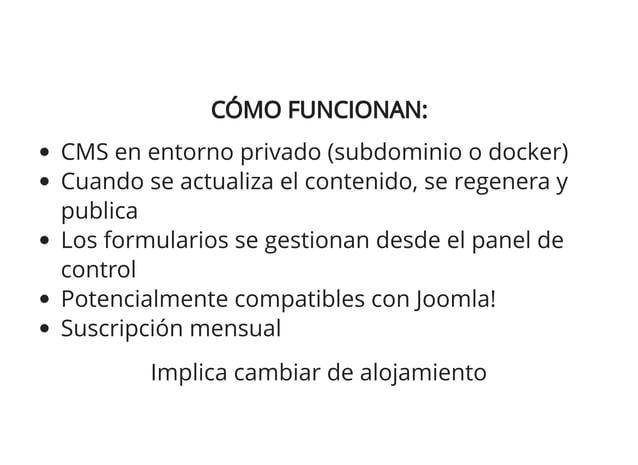 MYSTATIC.WEBSITE:MYSTATIC.WEBSITE: Compatible con Joomla! Dirigido a sitios Joomla! Legacy (versiones antiguas) A través d...
