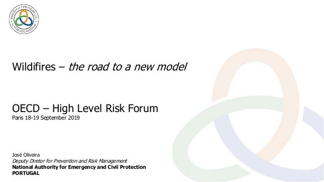 Wildifires – the road to a new model José Oliveira Deputy Diretor for Prevention and Risk Management National Authority fo...