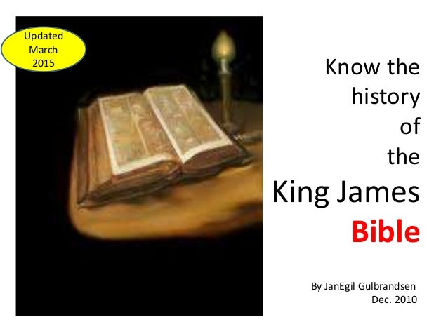 an introduction to the life of king james i Little is said about melchizedek, the king of righteousness and  king of salem  having neither beginning of days, nor end of life (hebrews 7:3.