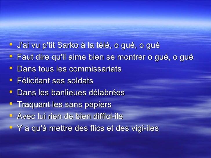 07  La Chanson De  Sarkozy Slide 2
