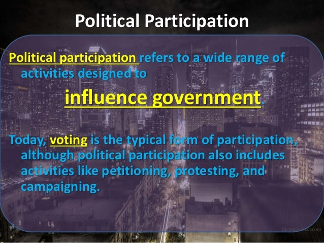 a discussion on the participation of voters in elections Voter participation is a data point often cited in political studies, along  discuss  in depth and vote several weeks before the actual election.