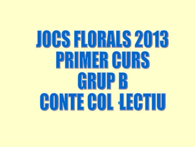 JOCS FLORALS 2013 - 1r B