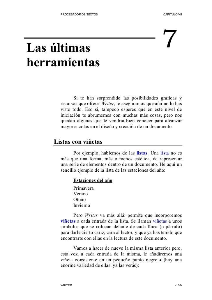 PROCESADOR DE TEXTOS                                  CAPÍTULO VII     Las últimas                                        ...