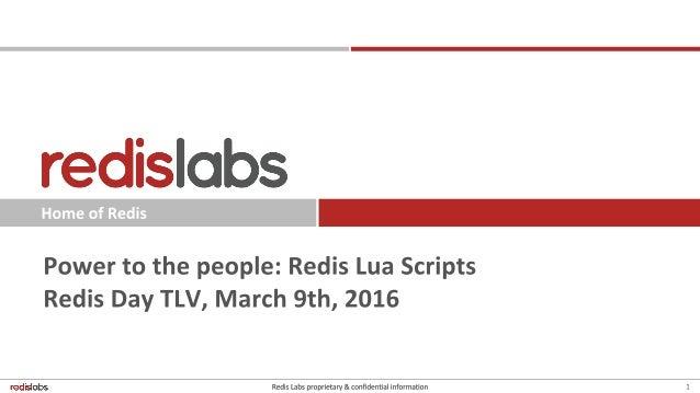 Redis: Lua scripts - a primer and use cases