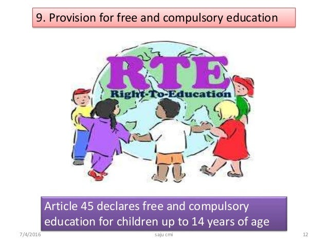 free and compulsory education