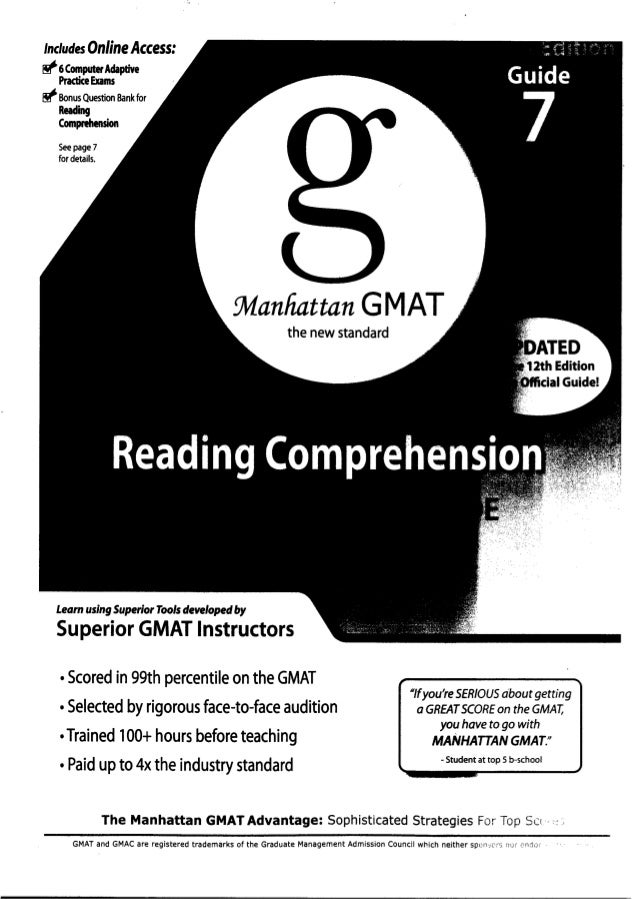 Includes Online Access:~ 6 Computer AdaptivePractice Exams~ Bonus Question Bank forReadingComprehensionSeepage 7for detail...