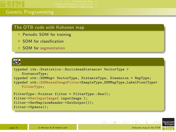 Implementing kohonen's som with missing data in OTB