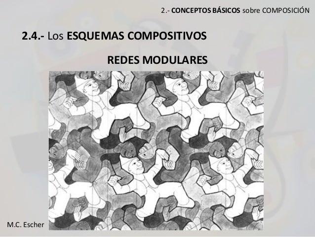 2.- CONCEPTOS BÁSICOS sobre COMPOSICIÓN 2.4.- Los ESQUEMAS COMPOSITIVOS REDES MODULARES M.C. Escher