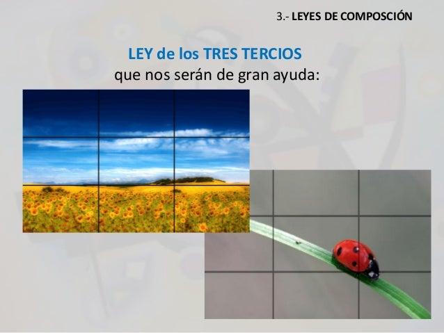 LEY de los TRES TERCIOS que nos serán de gran ayuda: 3.- LEYES DE COMPOSCIÓN