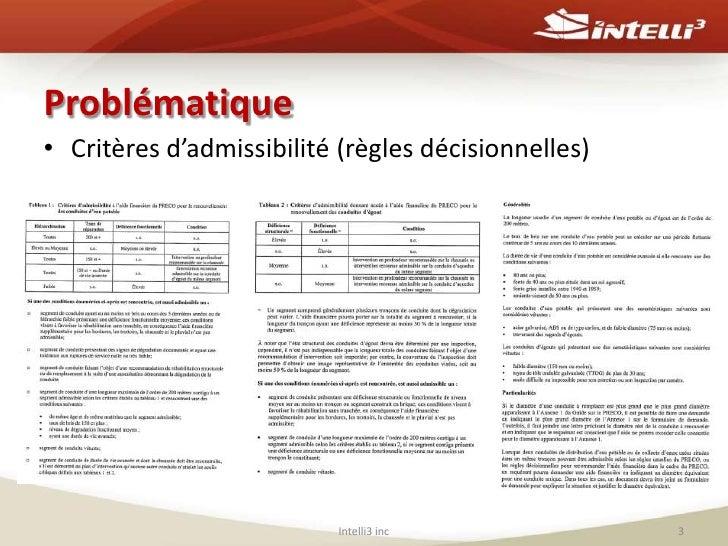 Évaluation de l'admissibilité des réseaux municipaux au programme de renouvellement des conduites d'eau potable et d'égout d'une municipalité Slide 3