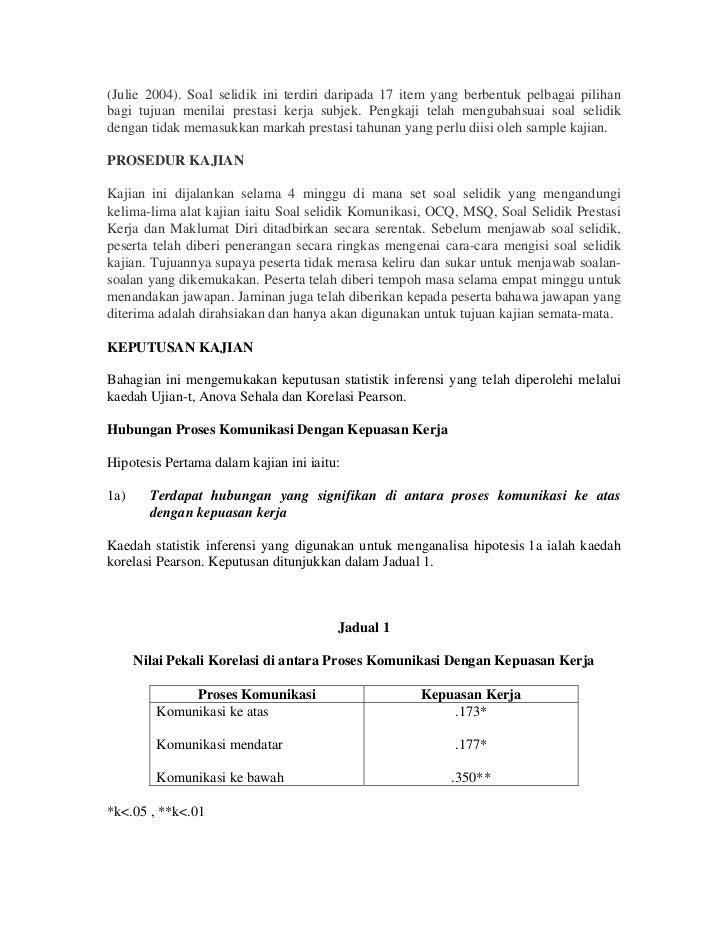 Borang Soal Selidik Pekerja