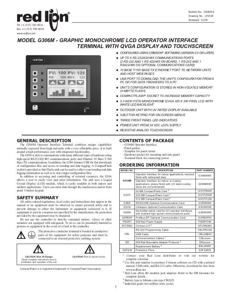 Bulletin No. G306M-A                                                                                                      ...