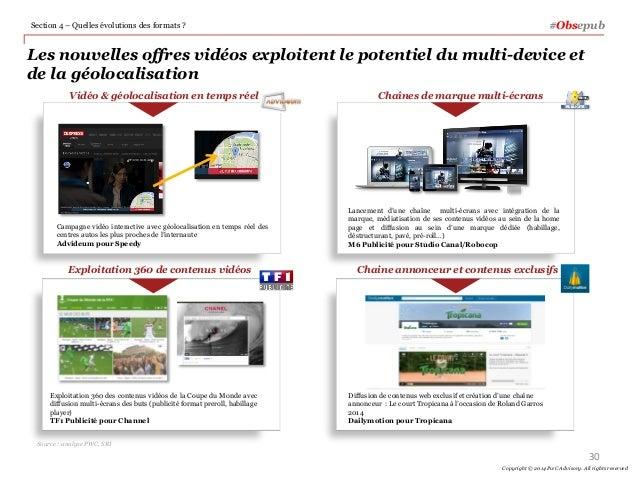 Les nouvelles offres vidéos exploitent le potentiel du multi-device et de la géolocalisation #ObsepubSection 4 – Quelles é...