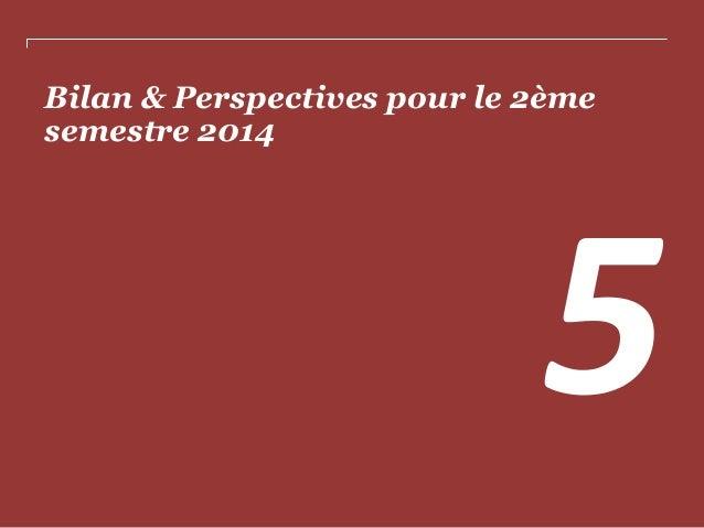 Bilan & Perspectives pour le 2ème semestre 2014