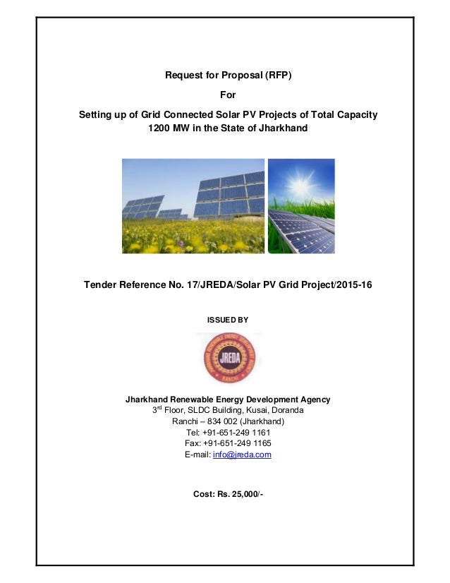 RfP invited for setting up 1200 MW Solar PV by Jharkhand
