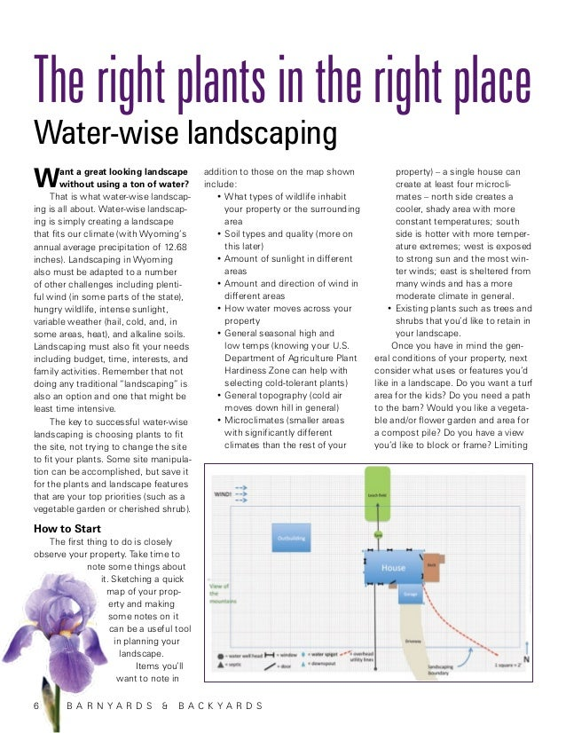 The right plants in the right placeWater-wise landscapingW       ant a great looking landscape        without using a ton ...