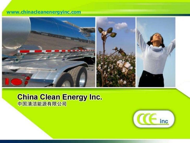 www.chinacleanenergyinc.com<br />