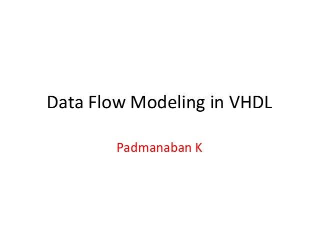 Data Flow Modeling in VHDL Padmanaban K