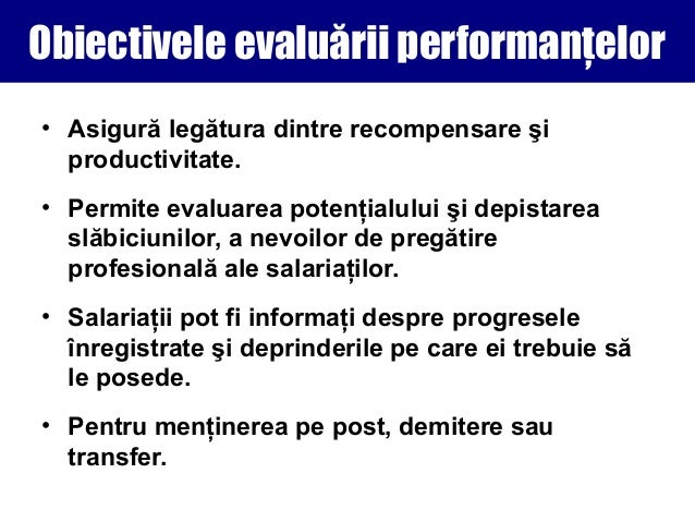obiective individuale de performanta exemple