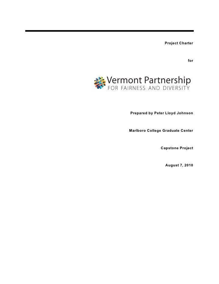 Project Charter                                 for     Prepared by Peter Lloyd Johnson    Marlboro College Graduate Cente...