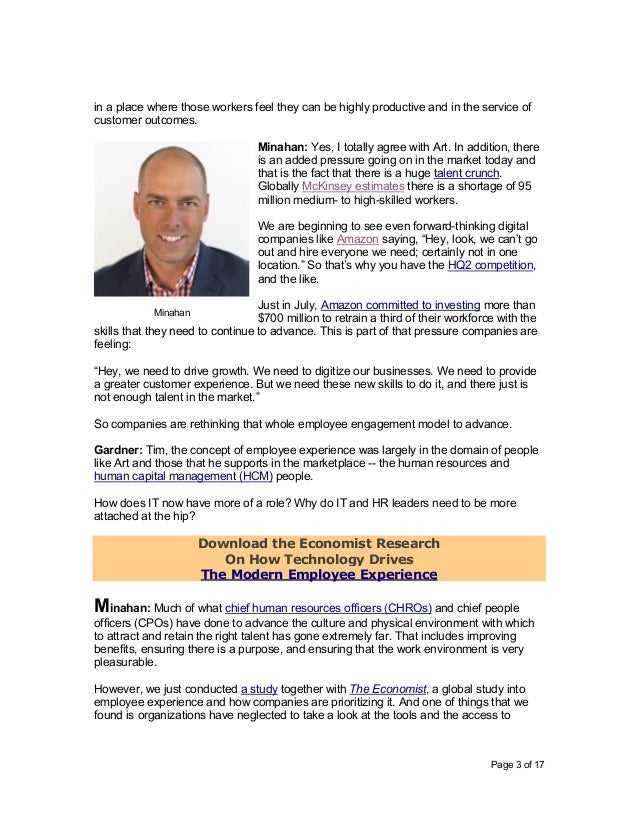 Page 3 of 17 in a place where those workers feel they can be highly productive and in the service of customer outcomes. Mi...