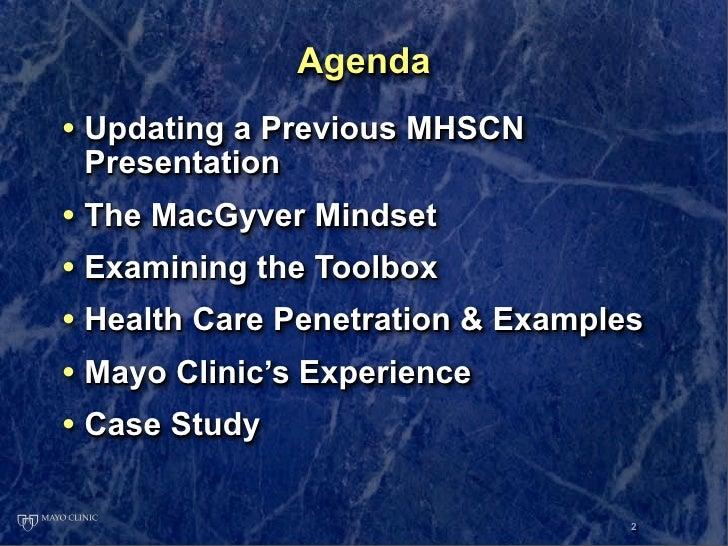 MHSCN Presentation on Mayo Clinic Social Media Slide 2