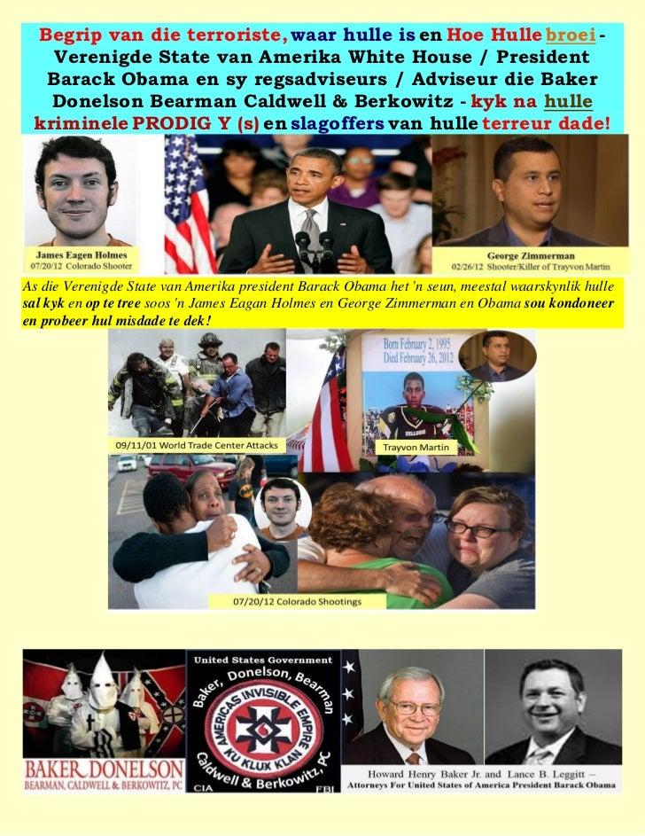 Begrip van die terroriste, waar hulle is en Hoe Hulle broei -   Verenigde State van Amerika White House / President  Barac...