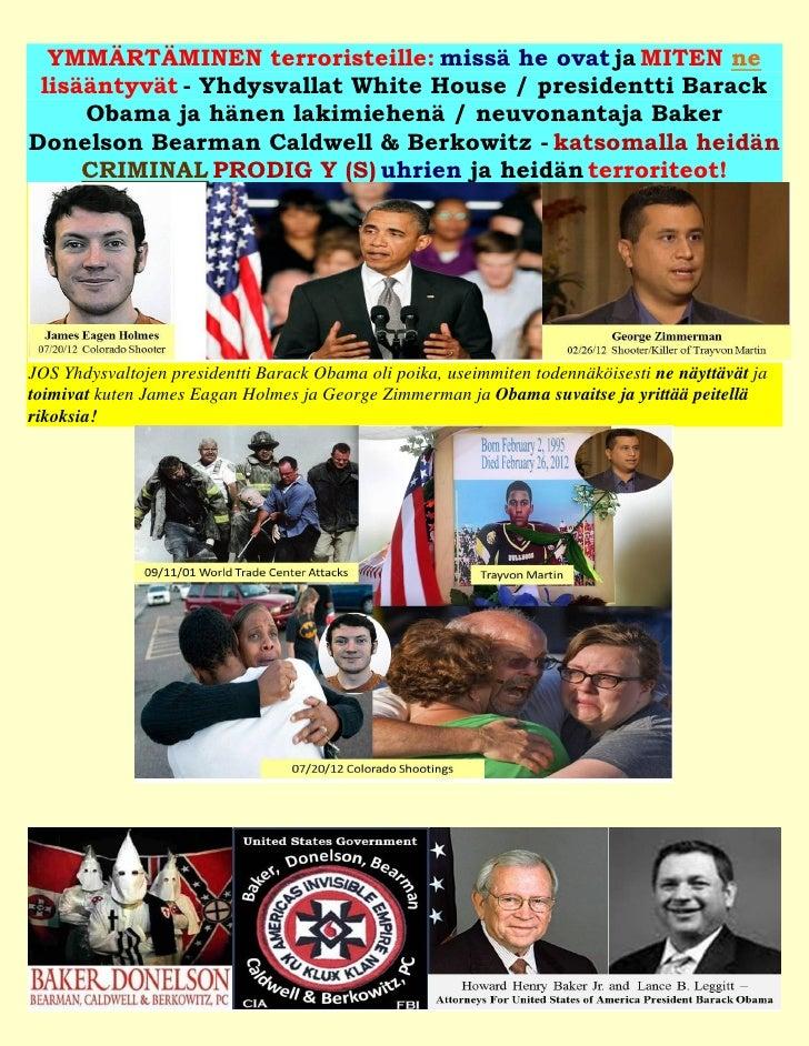 YMMÄRTÄMINEN terroristeille: missä he ovat ja MITEN ne lisääntyvät - Yhdysvallat White House / presidentti Barack     Obam...