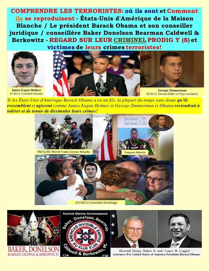 COMPRENDRE LES TERRORISTES: où ils sont et Comment   ils se reproduisent - États-Unis dAmérique de la Maison   Blanche / L...