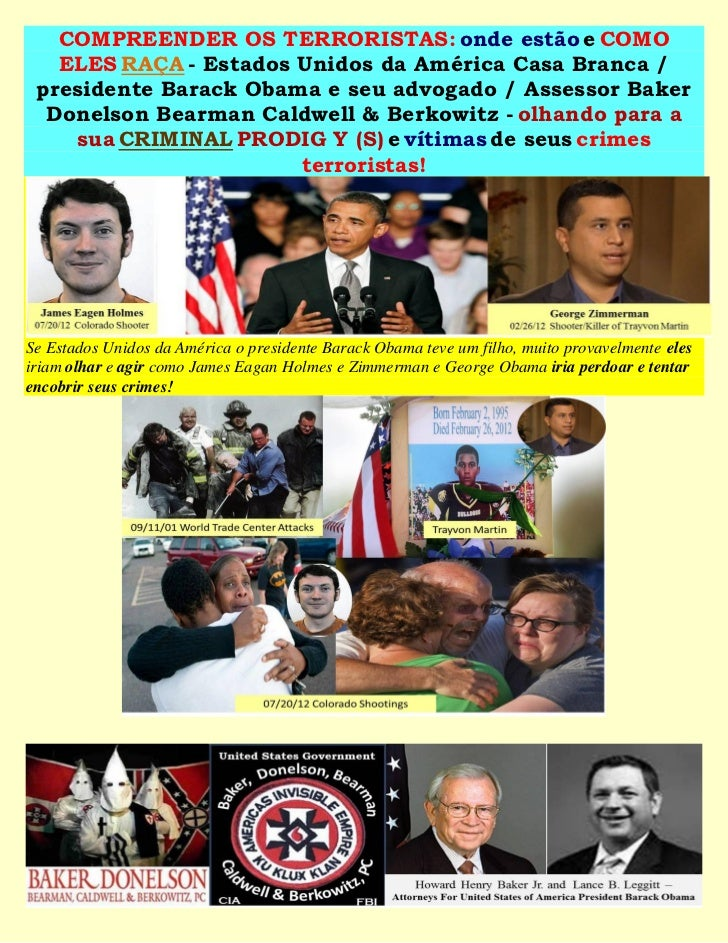 COMPREENDER OS TERRORISTAS: onde estão e COMO   ELES RAÇA - Estados Unidos da América Casa Branca / presidente Barack Obam...