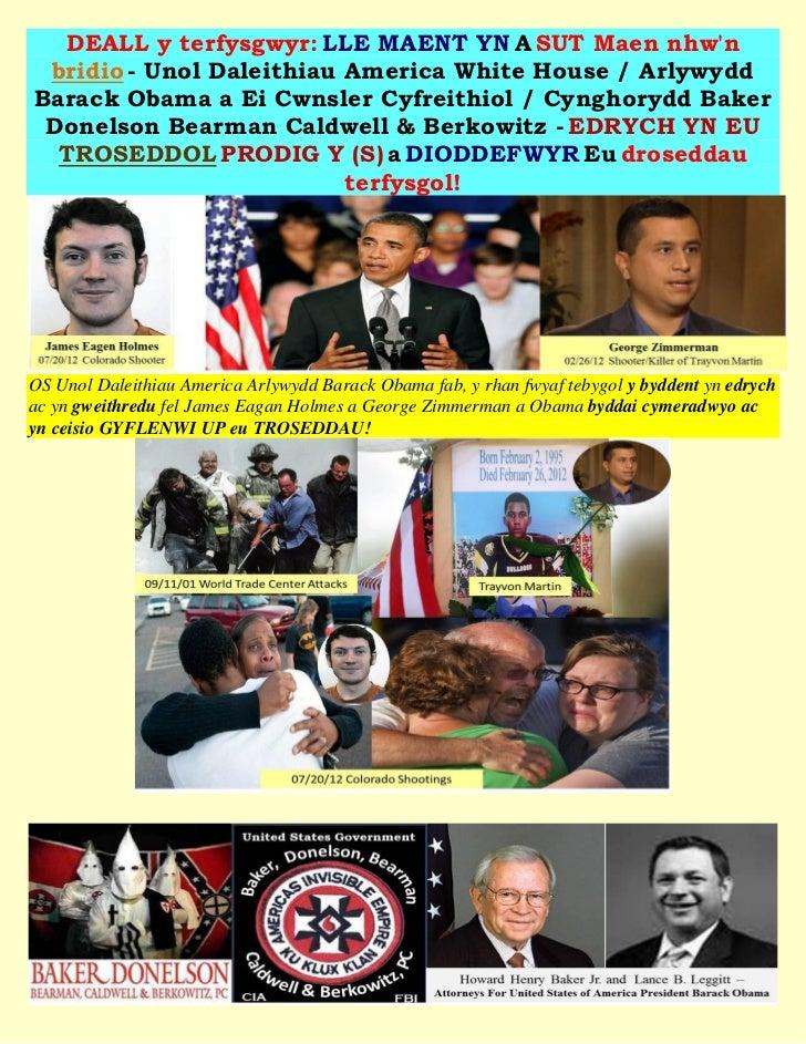 DEALL y terfysgwyr: LLE MAENT YN A SUT Maen nhwn bridio - Unol Daleithiau America White House / ArlywyddBarack Obama a Ei ...