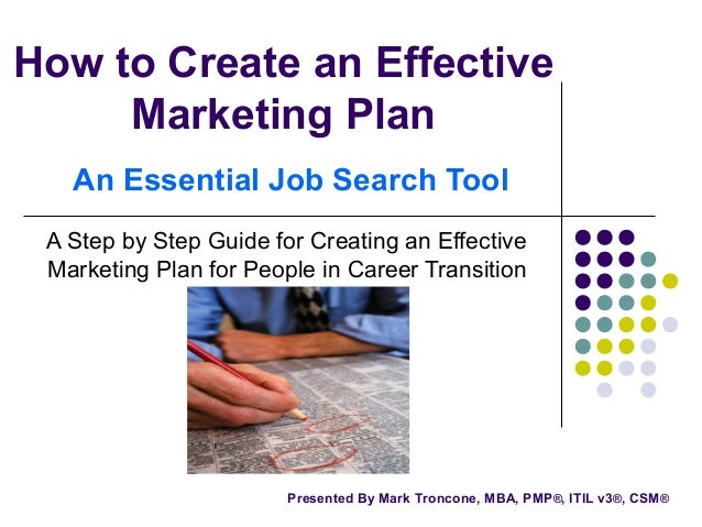 How To Create An Effective Marketing Plan
