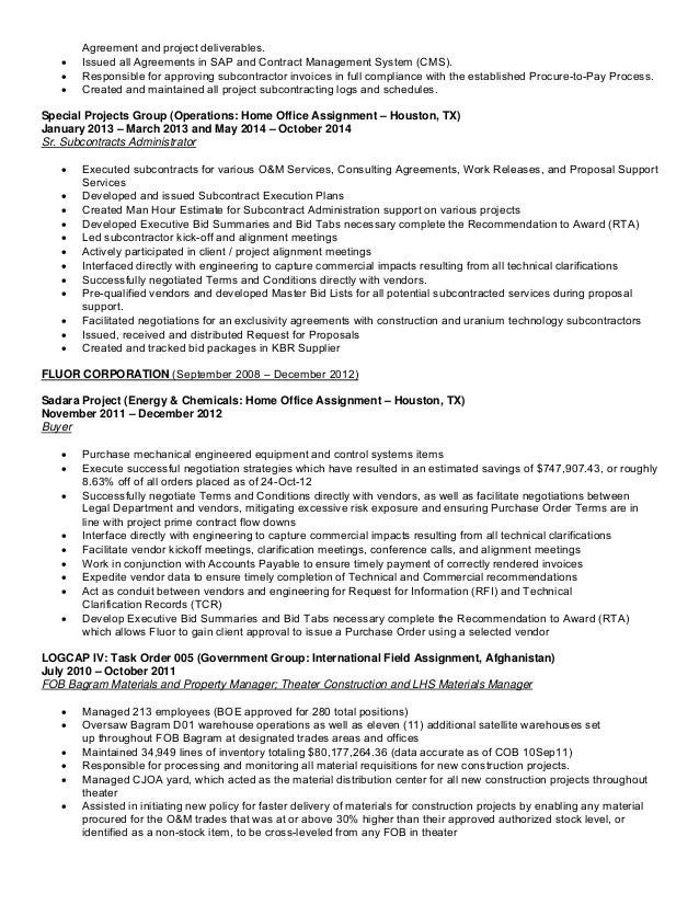 amazing subcontract administrator resume images simple resume