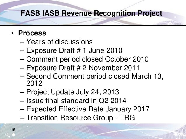 Revenue recognition issues