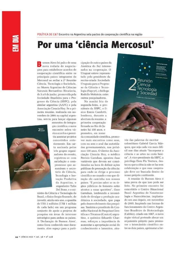 Por uma 'ciência Mercosul'