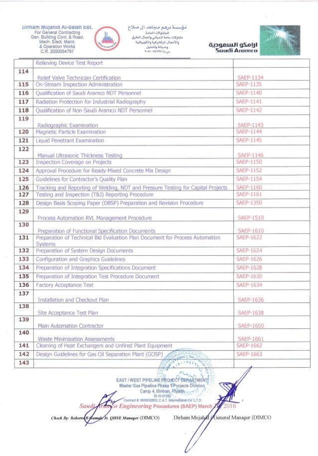 Saudi Aramco Engineering Procedures (SAEP) 5
