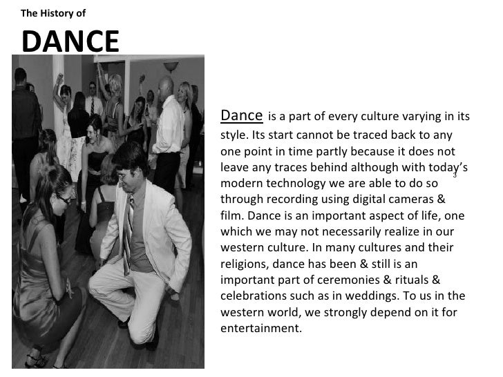 The History of Human Expression; Music & Dance