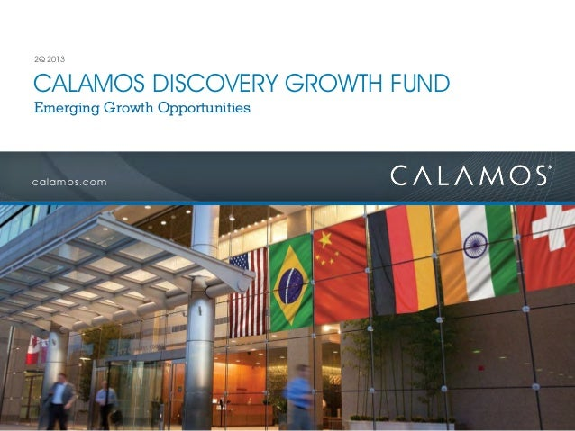 calamos.com CALAMOS DISCOVERY GROWTH FUND 2Q 2013 Emerging Growth Opportunities