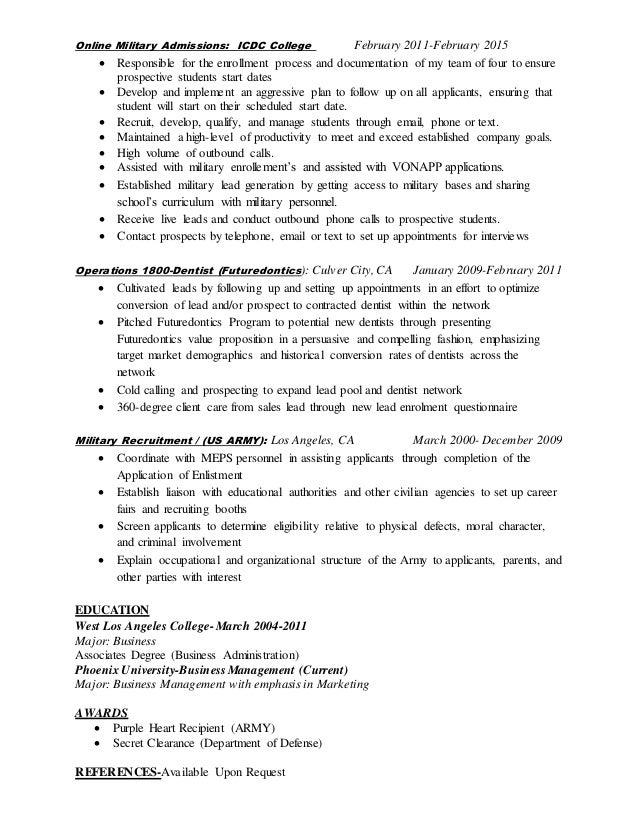 My Resume Slide 2
