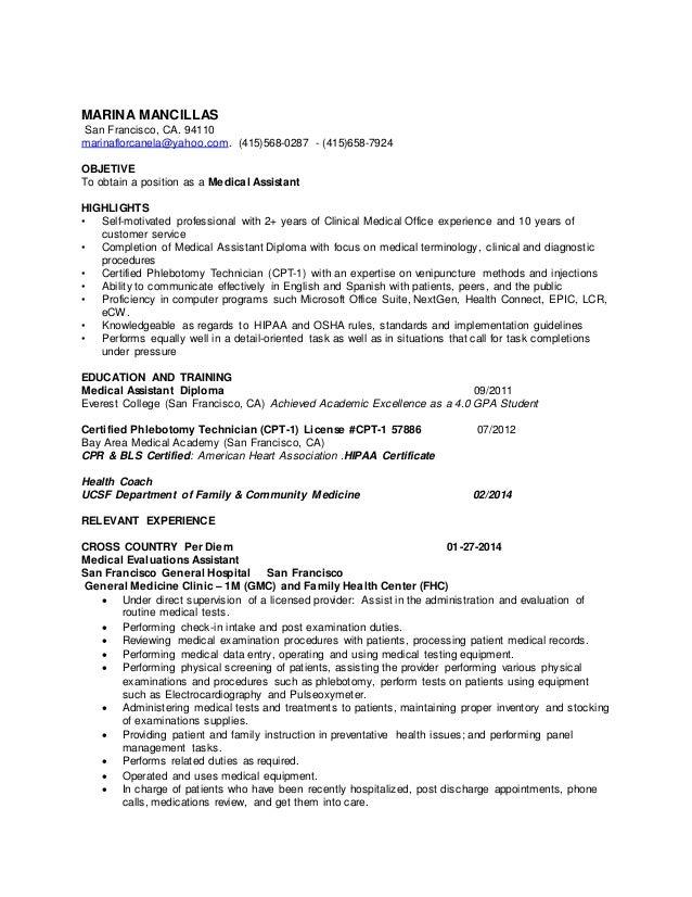 cpt resume