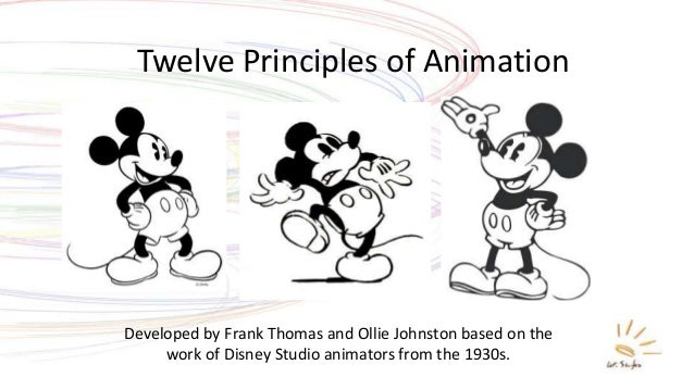 Twelve Principles of Animation Developed by Frank Thomas and Ollie Johnston based on the work of Disney Studio animators f...