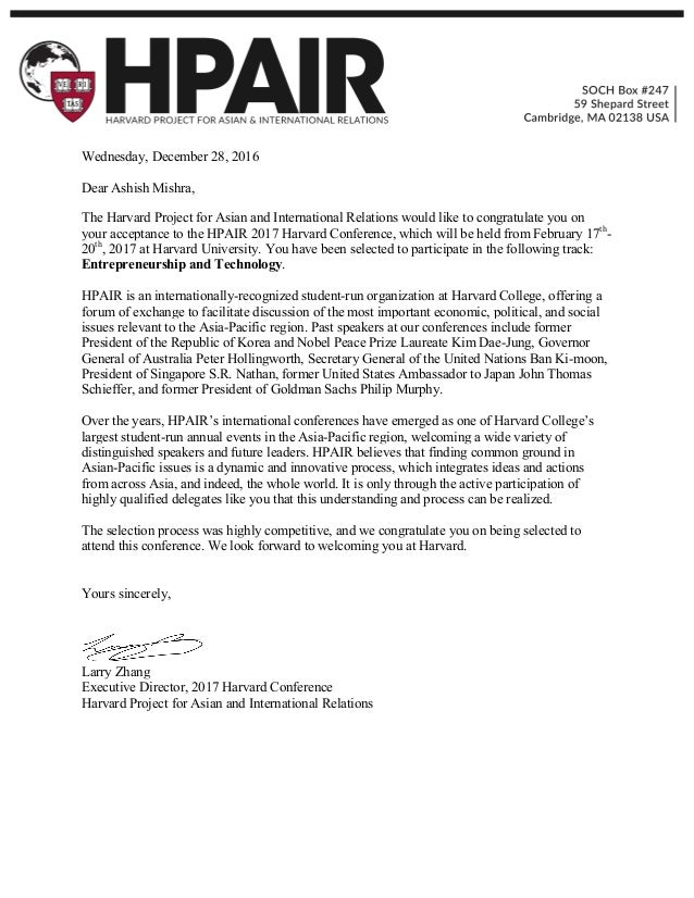 harvard acceptance letter - Selo.l-ink.co