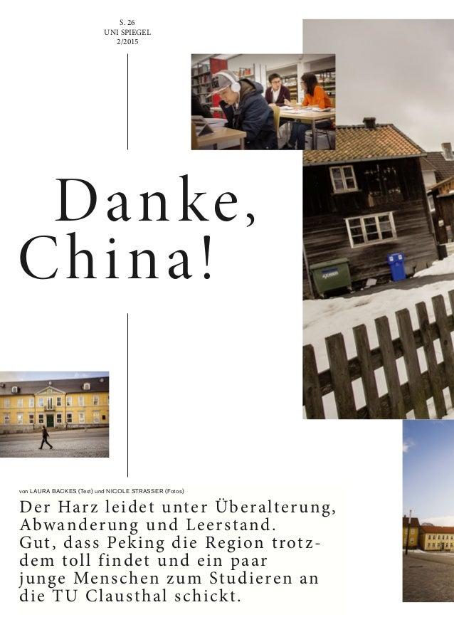 von LAURA BACKES (Text) und NICOLE STRASSER (Fotos) Der Harz leidet unter Überalterung, Abwanderung und Leerstand. Gut, da...