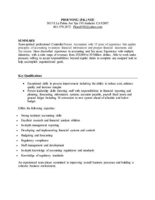 PHOUVONG Resume